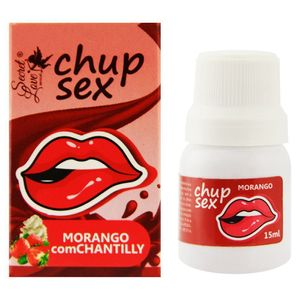 KIT 10 UNID. GEL COMESTÍVEL CHUP SEX MORANGO COM CHANTILY 15ML SECRET LOVE