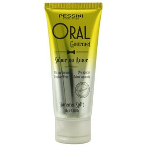 KIT 10 UNID. GEL COMESTÍVEL ORAL GOURMET 35ML BANANA SPLIT PESSINI