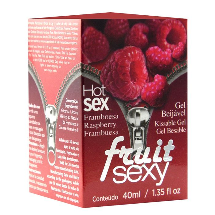 FRUIT SEXY OLEO BEIJAVEL FRAMBOESA 40ML - INTT