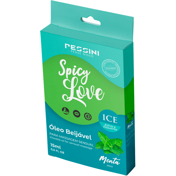 SPICY LOVE GEL BEIJÁVEL ICE MENTA 15ML - PESSINI