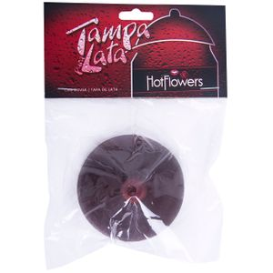 TAMPA PARA LATA SEIO BLACK HOT FLOWERS