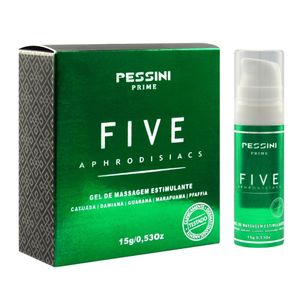 FIVE APHODISIACS GEL DE MASSAGEM ESTIMULANTE 15 G PESSINI