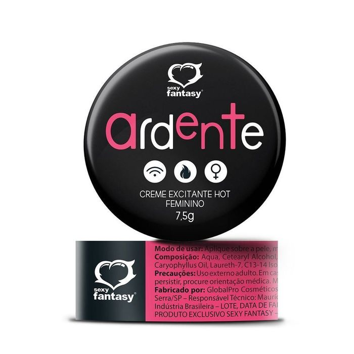 Ardente Gel Excitante Hot Feminino 7,5g Sexy Fantasy