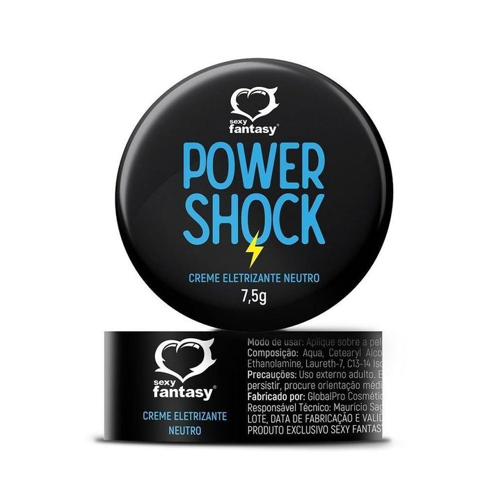 Power Shock Gel Eletrizante Neutro 7,5g Sexy Fantasy