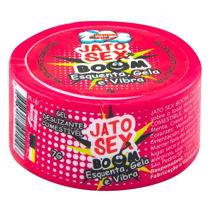 Jato Sex Boom Esquenta Gela E Vibra Gel 7g Pepper Blend