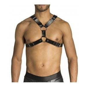 Harness Formato X De Couro Sintetico Sd Clothing