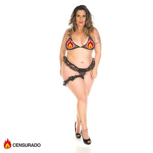 Mini Conjunto Sex Plus Size Pimenta Sexy Branco