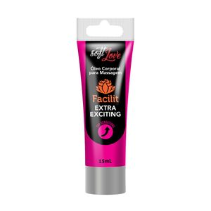 Gel Facilit Extra Exciting - Super Excitante e Anestésico Anal - Soft Love