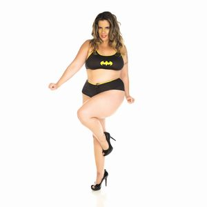 Mini Fantasia de Batgirl Plus Size