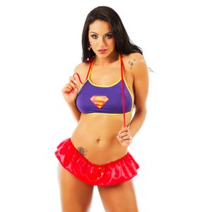 Mini Fantasia Super Girl Pimenta Sexy