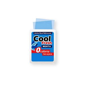 Lamina Bucal Refrescante Sexo Oral Cool Fresh 8 Laminas - Menta