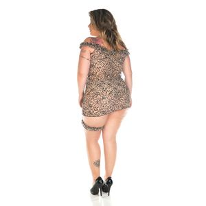 Camisola Oncinha Chik Plus Size