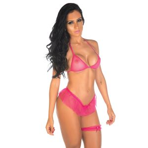 Conjunto Barbie - Top, Sainha, Persex
