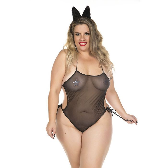 Kit Mini Fantasia Plus Size Loba Ii Pimenta Sexy