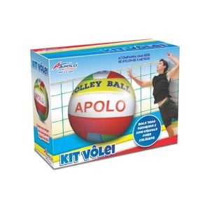 KIT VOLLEY BALL COM BOLA E REDE APOLO