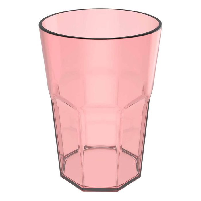 COPO DRINK 400ML ROSA TRANSPARENTE OU