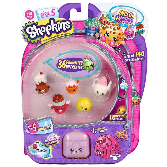 KIT BLISTER COM 5 SHOPKINS SORTIDOS