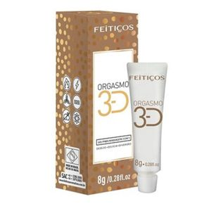 GEL P/ MASSAGEM ORGASMO 3D POP UP 8G (FEITIÇOS AROMÁTICOS)