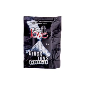 Excitante Unissex Black Tons C/ 3 Sachês - 6g - Soft Love