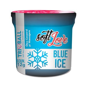 Bolinha Soft Ball Aromas 3UN - Triball Blue Ice - 12gr - SOFT LOVE
