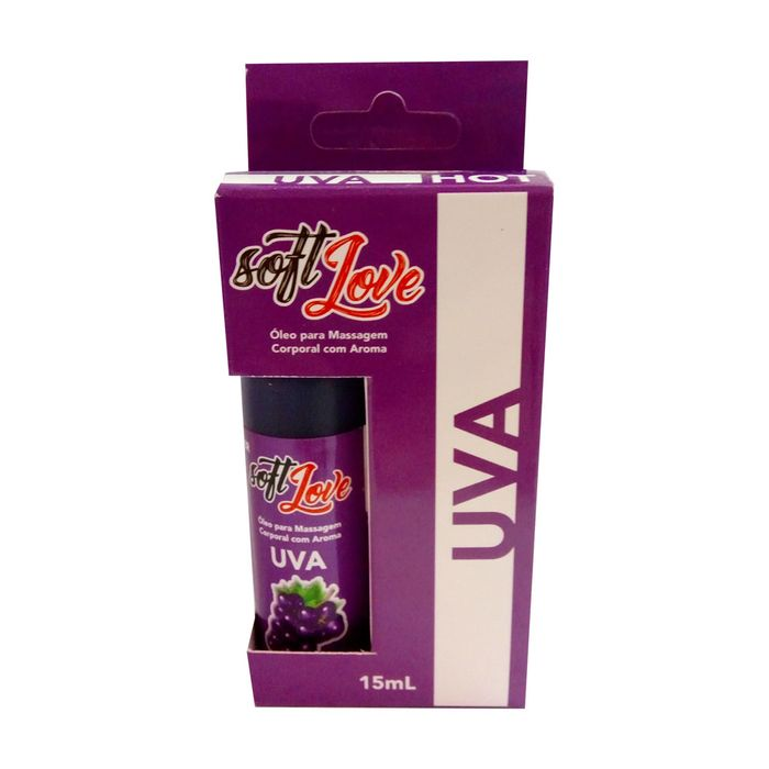 Gel Hot Aromatizado 15ml - Uva - Soft Love