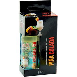 Gel Hot Aromatizado 15ml - Pina colada - SOFT LOVE