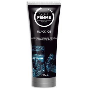 Sabone Corporal Feminino Bisnaga Soft Femme - Black Ice - 250ml - SOFT LOVE