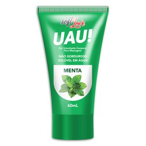 UAU! Gel Lubrificante Aromático á Base D'Agua - Menta - 60ml - SOFT LOVE