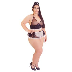 Fantasia Plus Size Empreguete do Desejo – Hot Flowers