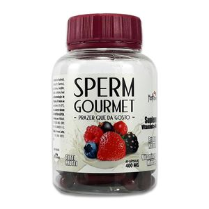 Sperm Gourmet 60 Cápsulas – 400mg – Tutti Frutti – Hot Flowers