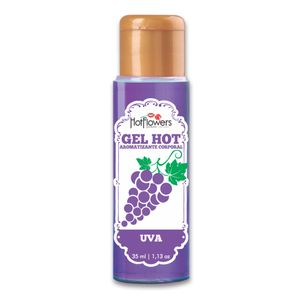 Gel Hot Aromatizante Corporal – Sabor Uva – 35ml – Hot Flowers
