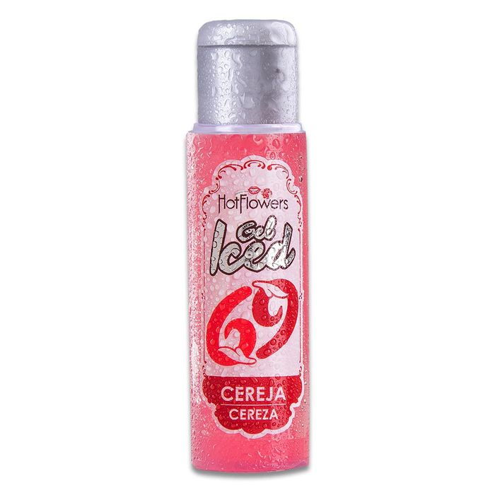 Gel Iced Aromatizante Corporal – Sabor Cereja – 35ml – Hot Flowers