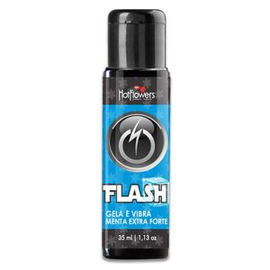 Gel Gela E Vibra Flash – Sabor Menta Extra Forte – 35ml – Hot Flowers