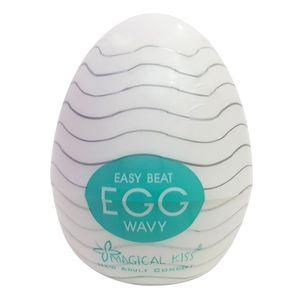 Masturbador Easy Beat Egg Wavy Magical Kiss – Branco – Importado