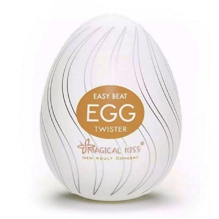 Masturbador Easy Beat Egg Twister Magical Kiss – Branco – Importado