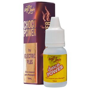 Óleo de Massagem Aquece e Vibra Choco Power by Electric Plus – 10ml – Soft Love
