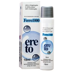 Gel Excitante Masculino Ferro 1000 Ereto – 18ml – Secret Love