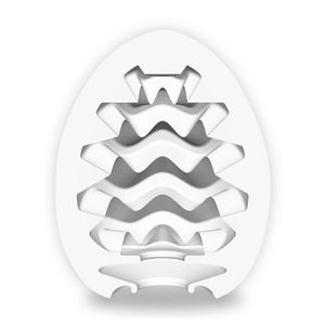Masturbador Power Egg Wavy - Branco - Importado
