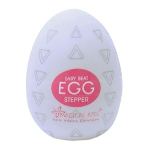 Masturbador Power Egg Stepper- Branco - Importado