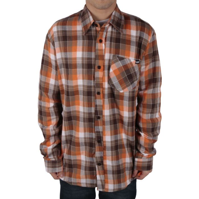 CAMISA QUADRICULADA ORANGE