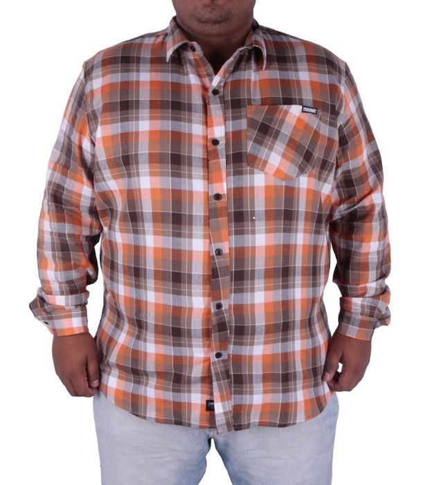 Camisa Quadriculada Orange Big