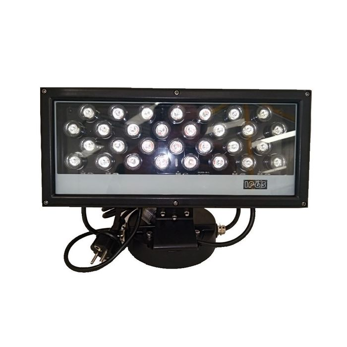 LUMINARIA DE LED WALL WASHER IP65 45W ANGULO 15 GRAUS RGB