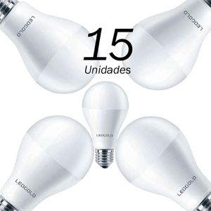 15 Lâmpadas Led Bulbo 7w E27 3000k Ledgold