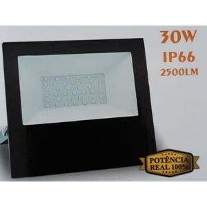 REFLETOR A LED SMD IP66 30W IN   BIVOLT ALUMINIO