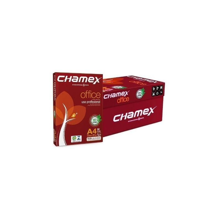 Papel Sulfite A4 Office 210 x 297mm Pacote 500 Folhas Chamex