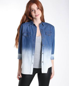 23735d5290 Camisa Jeans Badcat Degradê - Compre agora