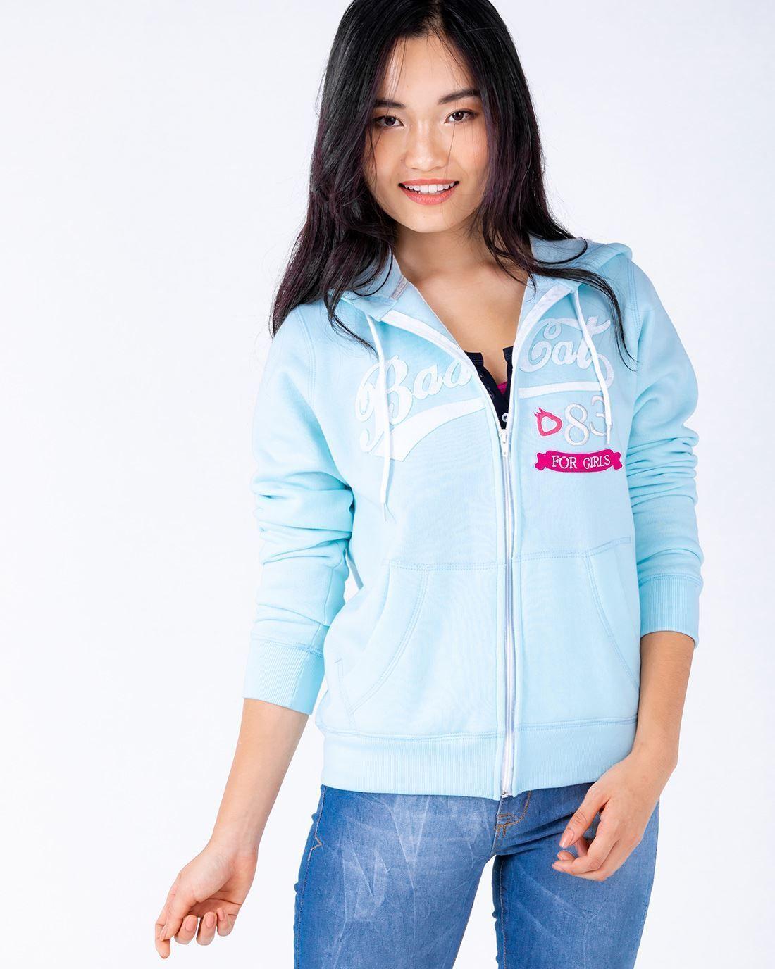 3bf7c6c72 Moletom Zíper Badcat Azul Claro - Compre agora | Badcat Store