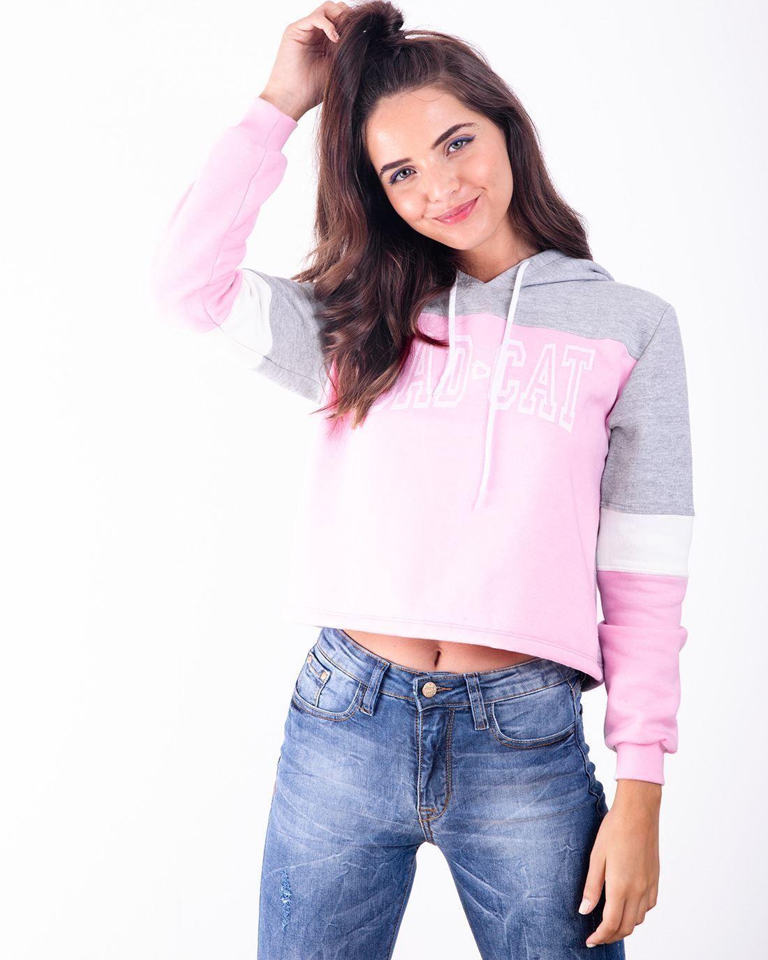 fa5d034ec Moletom Cropped Color Badcat Rosa - Compre agora | Badcat Store