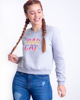MOLETOM CROPPED BADCAT