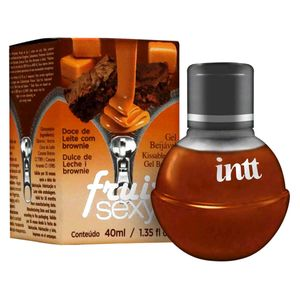 FRUIT SEXY GEL COMESTÍVEL HOT DOCE DE LEITE COM BROWNIE 40ML INTT